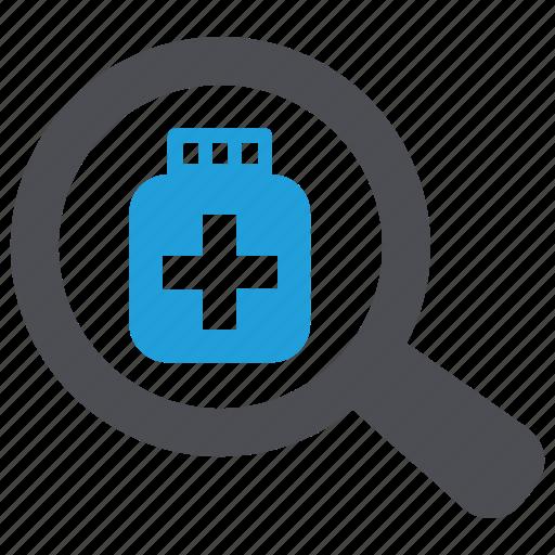 Drug, find, medicine, search, tablets icon - Download on Iconfinder