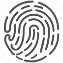 biometric, fingerprint icon