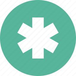 help, life, medical symbol, of, rescue, star, support icon