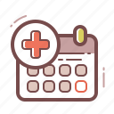 appointment, calendar, doctor icon