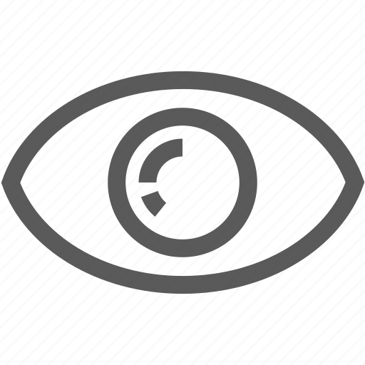 eye, ophthalmology, sight, view, vision icon