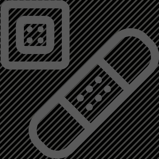 band aid, bandage, injury, plaster, platter icon