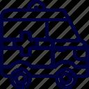 ambulance, bukeicon, car, emergency, health, hospital icon