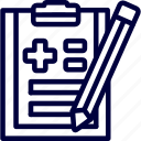 bukeicon, checks, health, hospitals, reports icon