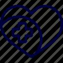 bukeicon, care, health, heart, hospital, love icon