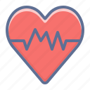 cardiogram, heart, love icon