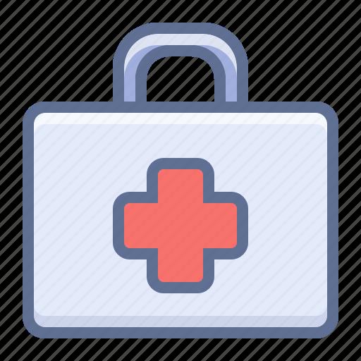 box, first aid kit, kit icon