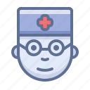 avatar, doctor, face icon