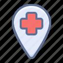 clinic, hospital, medical center icon