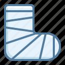 bandage, fracture, gypsum icon