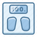 adiposity, scales, weight icon