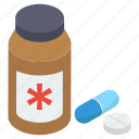 medication, medicine, pharmaceutical, pills jar, remedy icon