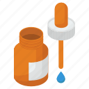 dropper bottle, drops, medical drops, medication, medicine icon