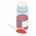 cough syrup, medication, medicine bottle, medicine syrup, remedy icon
