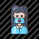 avatar, doctor, female, healthcare, nurse
