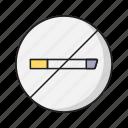 cigarette, nosmoke, notallowed, sign, tobacco icon