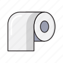 bathroom, cleaning, roll, tissue, toilet icon