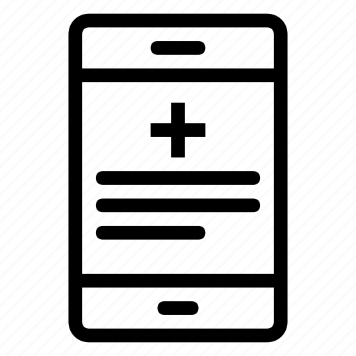 app, cellphone, health app, screen, smartphone icon