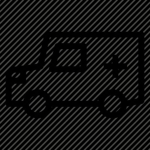 ambulance, clinic, health, vehicle icon