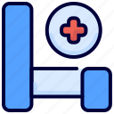 bed, healthcare, hospital, medical icon