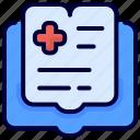 book, bukeicon, health, history, medical, record icon
