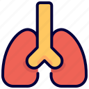 breathing, health, lung, organs icon