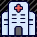 building, bukeicon, health, hospital, medical icon