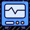 cardiogram, hospital, medical, monitor icon
