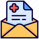 email, envelope, letter, mail, medical, newsletter, result icon
