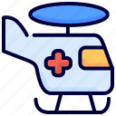 aid, health, helicopter, medical, transport icon