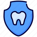 dental, health, healthcare, medical, shield, tooth icon