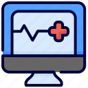 healthcare, medical, monitor, pulses, statistic icon