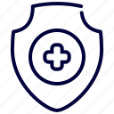 healthcare, insurance, medical, protection, shield icon
