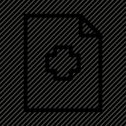 clipboard, document, health icon