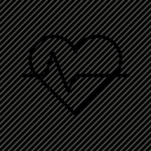 cardio, health, heart, medical, pulse icon