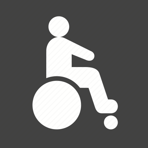 disability, disabled person, handicap, health care, hospital, injured, wheelchair icon