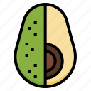 avocado, fruit, healthy, vegan, vegetarian icon