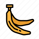 banana, food, fruit, vegetarian icon