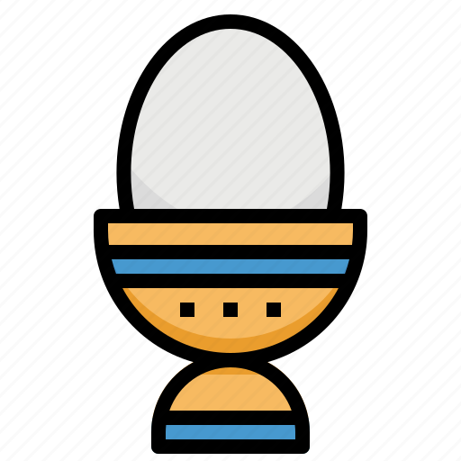 boiled, egg, food, protein icon