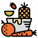 fruit, healthy, vegan, vegetables, vegetarian icon