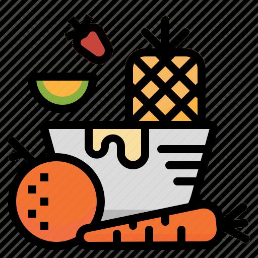 fruit, healthy, vegan, vegetables, vegetarian icon