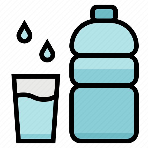 bottle, drink, healthy, water icon