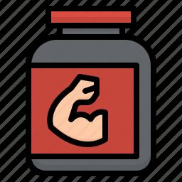 exercise, powder, protein, proteins, sport, whay icon