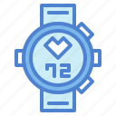 hearth, rate, training, watch icon