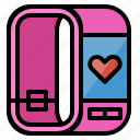 fitness, fitness watch, heart, rate, sport, watch icon