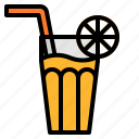 drink, fresh, healthy, juice, orange icon