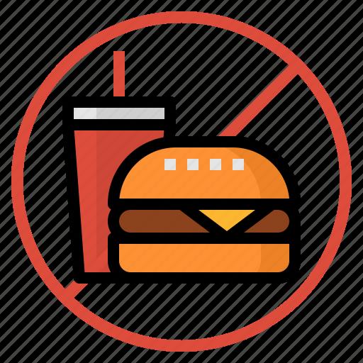 burger, fat, food, junk food, soda icon