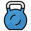 exercise, kettlebell, weights, workout icon