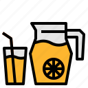 drink, jug, juice, orange icon