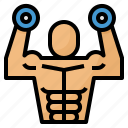 dumbbell, exercise, healthy, workout icon